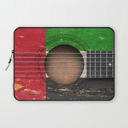 Old Vintage Acoustic Guitar with UAE Flag Laptop Sleeve