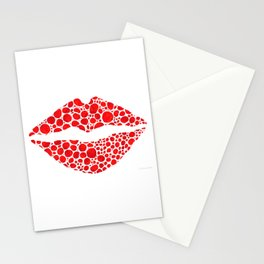 Red Lips Art - Big Kiss - Sharon Cummings Stationery Cards