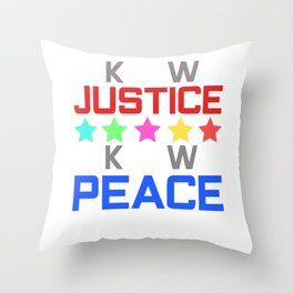 Spread the Love with this Peace of mind Tshirt Design Know peace Throw Pillow