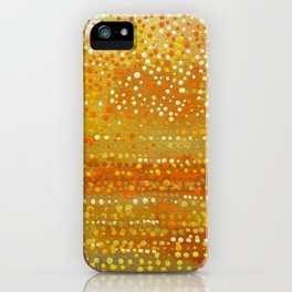 Landscape Dots - Orange iPhone Case