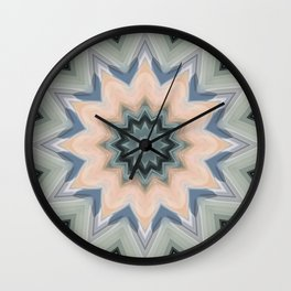 Beautiful Sage and Apricot by LH Wall Clock