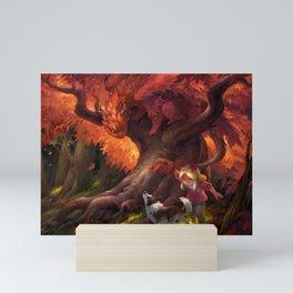 Autumn Leaves Mini Art Print