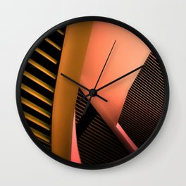 Urban Adventure in Yellow Wall Clock