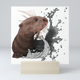 Cujo giant river otter Mini Art Print