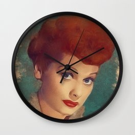 Lucille Ball, Hollywood Legend Wall Clock
