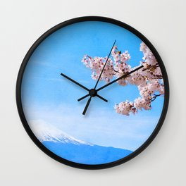 Japan watercolor #1 Wall Clock