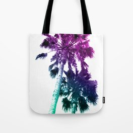 Retro Vintage Ombre Pop Art Los Angeles, Southern California Palm Tree Colored Print Tote Bag