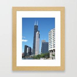 Chicago Historic Skyline Framed Art Print