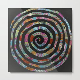 """Tribal Vibrations"" Metal Print"