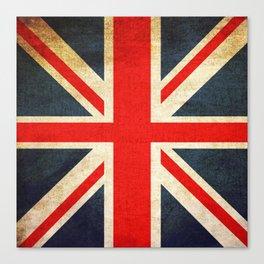 Vintage Union Jack British Flag Canvas Print