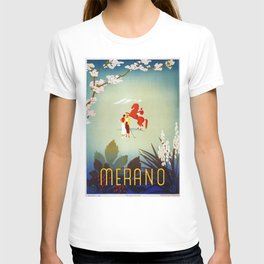 Horse riding, golf and tennis in 1920s Merano T-shirt