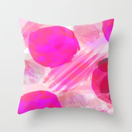 Pink Abstract Pattern Throw Pillow