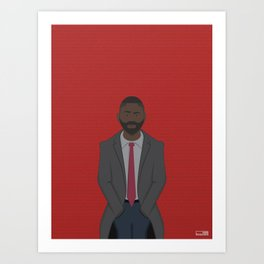 DCI Luther Art Print