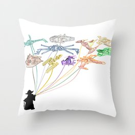 Balloons From The Rebel Alliance Throw Pillow
