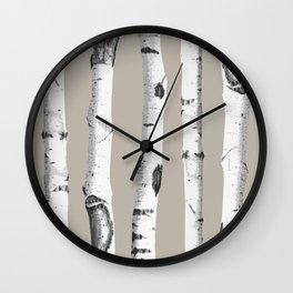 Birch tree forest art Wall Clock