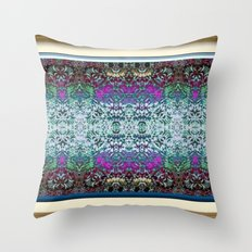 Lavender and Teal Throw Pillow