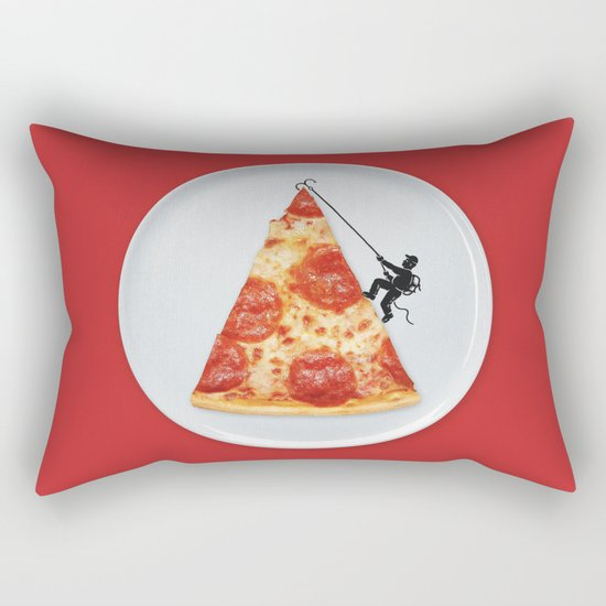 Pizza Topping Rectangular Pillow
