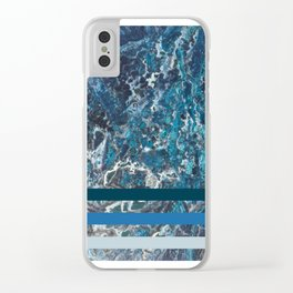 Deep Ocean Marble Clear iPhone Case