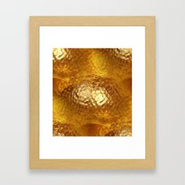 Hammered Gold Framed Art Print