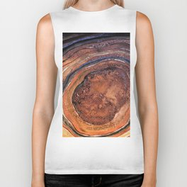 Hand drawn Watercolor Copper Glitter Stone and Ink Abstract Gem Glamour Marble Biker Tank