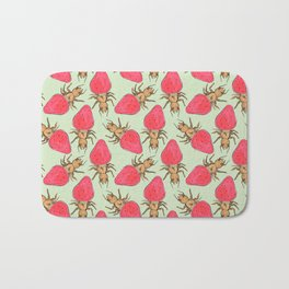 ant strawberry Bath Mat