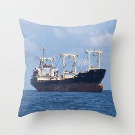 Cargo Ship Beril 1 Throw Pillow