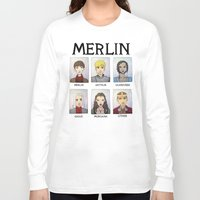 merlin Long Sleeve T-shirts featuring MERLIN by Space Bat designs