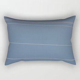 Blue Sky and Telephone Wires in the Sun Rectangular Pillow