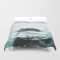 mermaid Duvet Covers featuring Mermaid by fly fly away