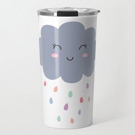 happy little rain cloud Travel Mug