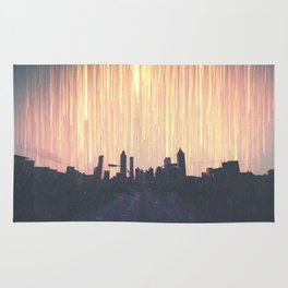 Lights Over Atlanta Georgia Skyline Rug