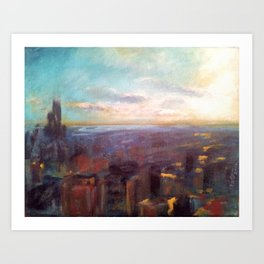 View from the Hancock Building Art Print