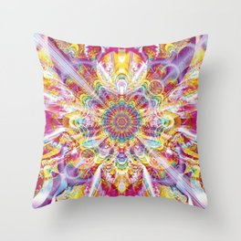 Psychedelic Soiree Throw Pillow