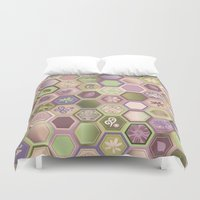 polygon Duvet Covers featuring Polygon pattern by /CAM