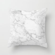 White Marble Edition 2 Throw Pillow
