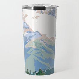 Vintage Mount Hood Travel Poster Travel Mug