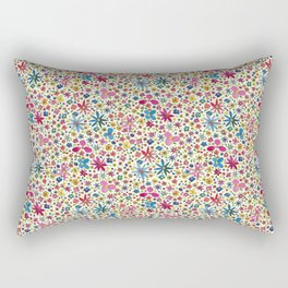 Ditsy Floral Print Rectangular Pillow