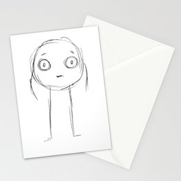 Cute anxious stickman Stationery Cards