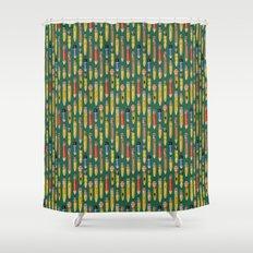 Little Pencils Green Shower Curtain