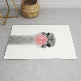 ostrich bubblegum Rug