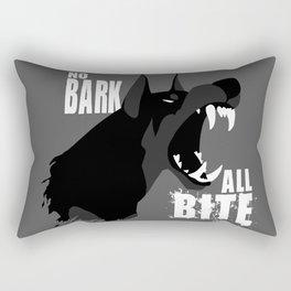 No Bark, All Bite Rectangular Pillow