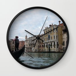 A Gondola Ride With Luca in Venice Wall Clock