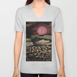 Fields of Gold - Surreal starry night Unisex V-Neck