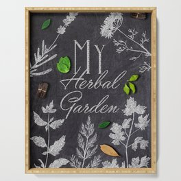 My Herbal Garden Serving Tray