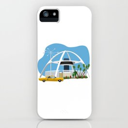 LAX Theme Building Googie iPhone Case