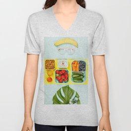Healthy snack background Unisex V-Neck