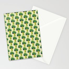 broccoli simple pattern Stationery Cards