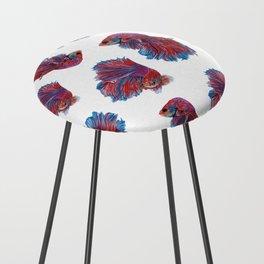 Ocean Theme- Red Blue Betta Fish Counter Stool