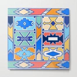 Colorful Ndebele Pattern Metal Print