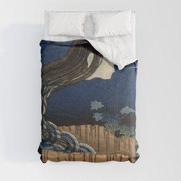 The Plate Mansion de Katsushika Hokusai Comforters